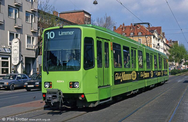 Hannover 6224 at Goetheplatz on 9th April 1993.