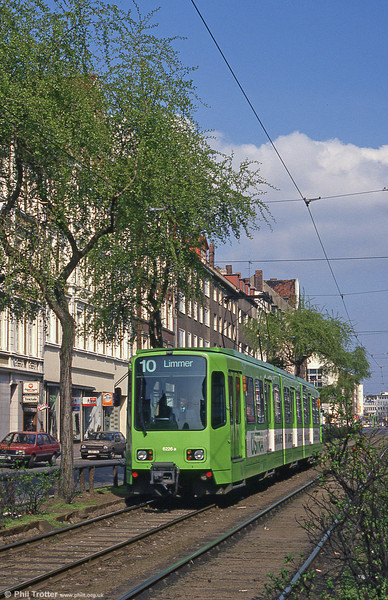 Hannover 6226 at Goetheplatz on 9th April 1993.