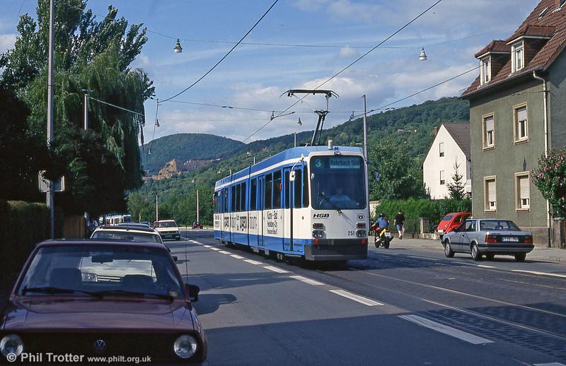 Heidelberg 251 at Handschuhsheim on 3rd April 1991.