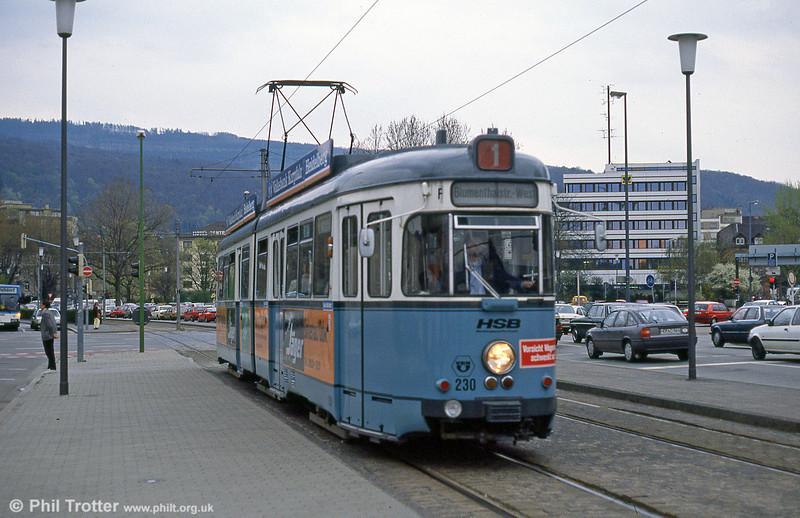 Heidelberg 230 near the Hbf. on 1st August 1993.