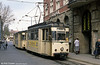 Jena 012, a Gotha car dating from 1958 on the Holzmarkt circle section of route 2.