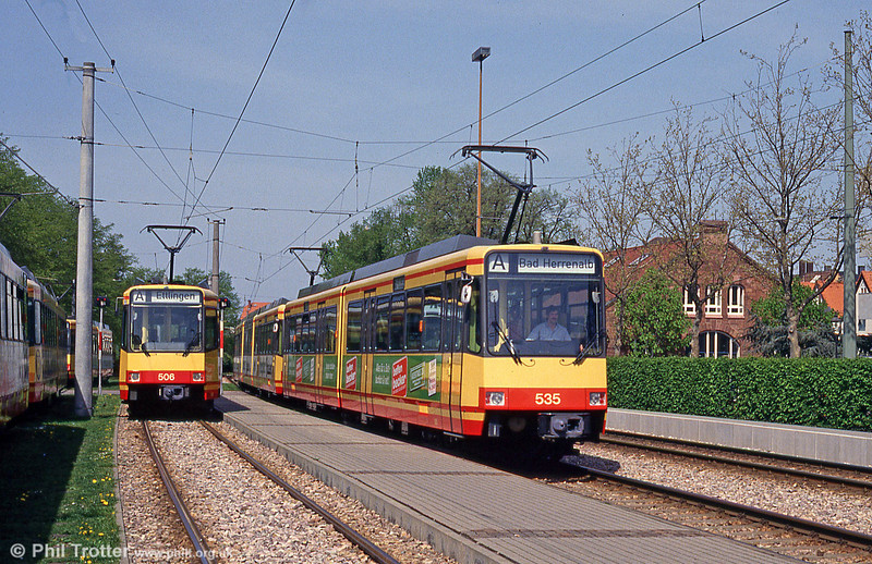 Cars 506 and 535 at Ettlingen on 22nd April 1993.