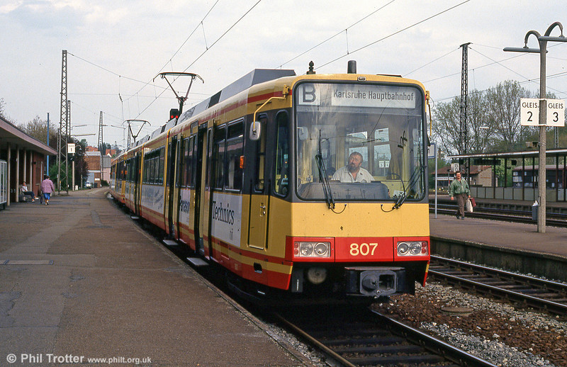 Car 807 at Bretten on 22nd April 1993.