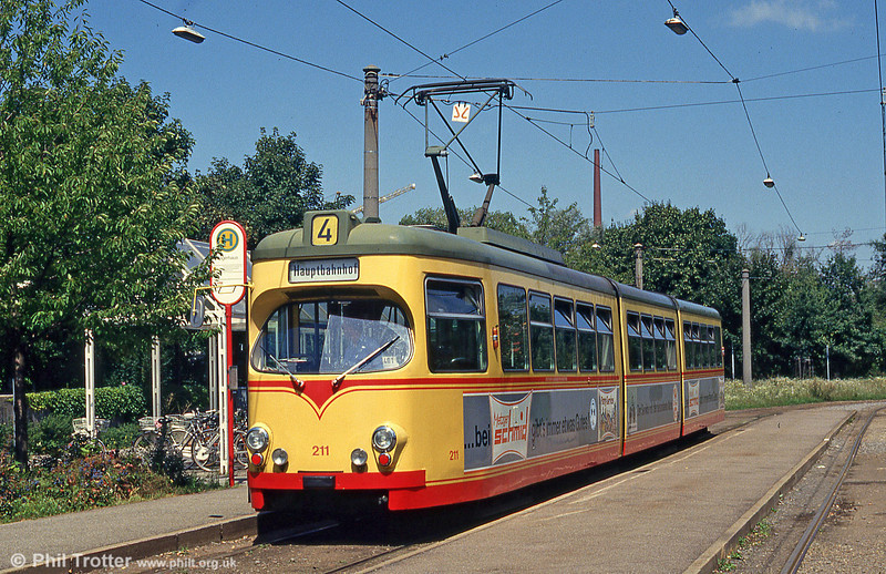 Car 211 at Waldstadt on 2nd August 1993.