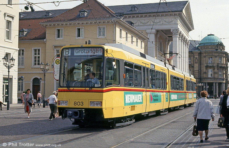 Car 803 in Marktplatz on 22nd April 1993.