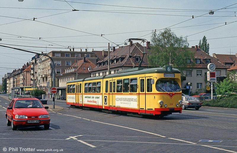 Car 175 near Altbahnhof on 22nd April 1993.