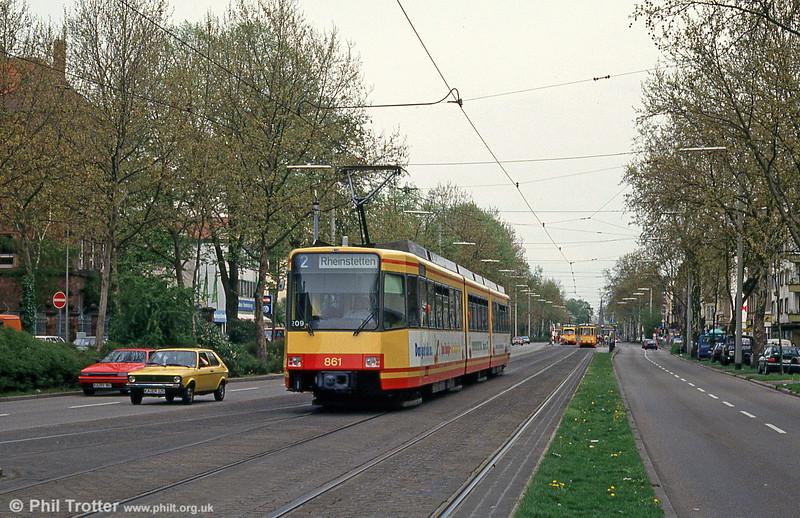 Karlsruhe 861 at Yorckstrasse on 22nd April 1993.