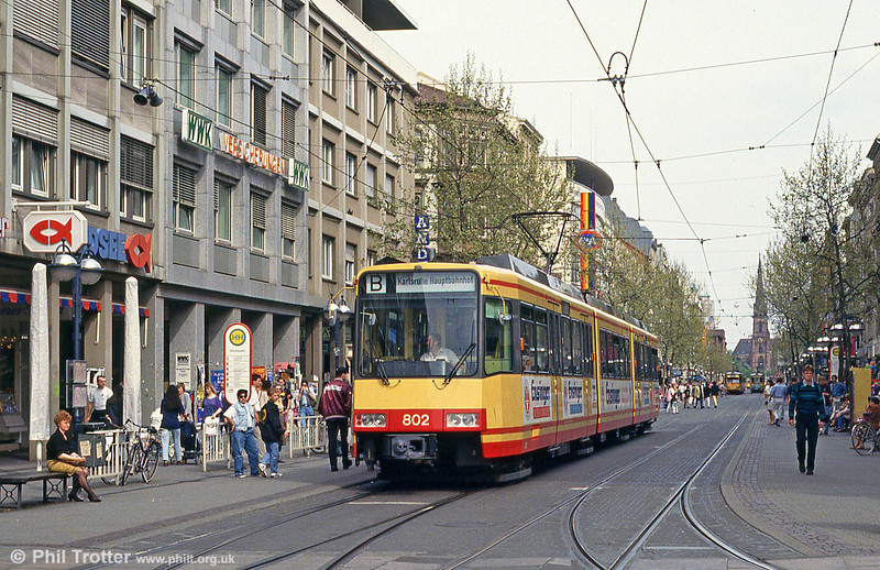 Car 802 in Marktplatz on 22nd April 1993.