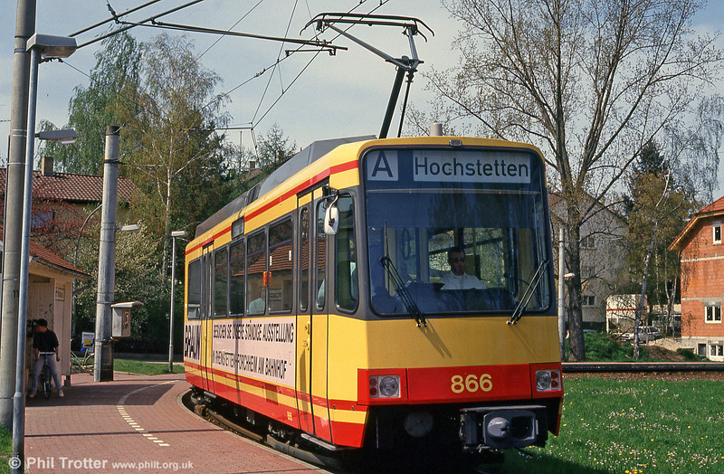 Car 866 at Ittersbach on 22nd April 1993.