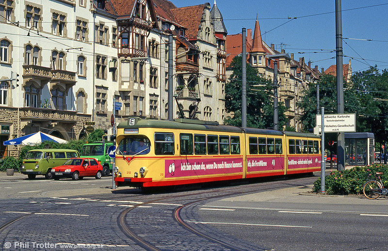 Car 212 at Tullastrasse on 2nd August 1993.