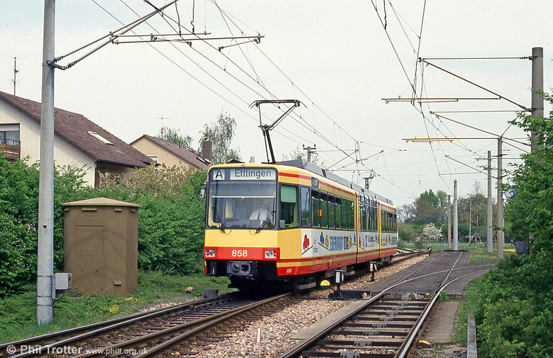 Car 858 at Neureut on 22nd April 1993.