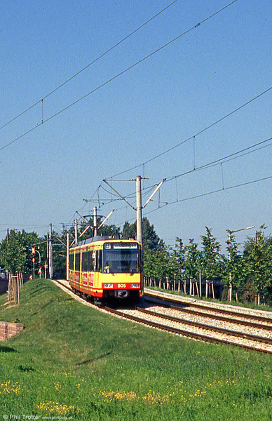 Car 805 at Durlach on 2nd August 1993.