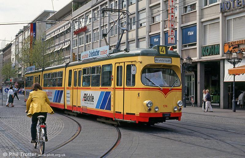 Car 174 in Marktplatz on 22nd April 1993.