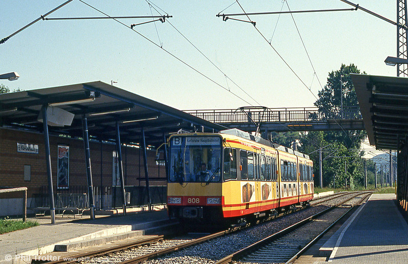 Car 808 at Durlach on 2nd August 1993.