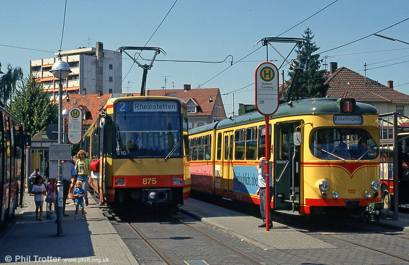 Cars 875 and 166 at Durlach Turmberg on 2nd August 1993.