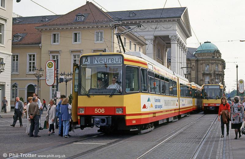 Car 506 in Marktplatz on 22nd April 1993.