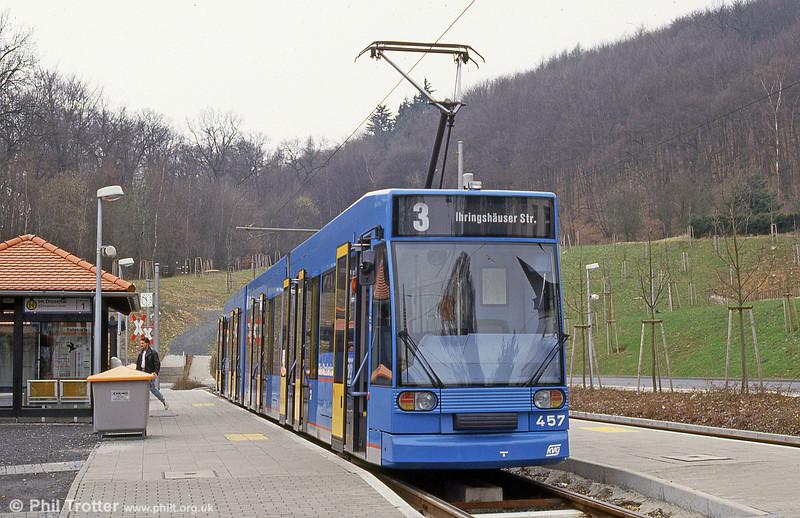 Kassel 457 at Im Druseltal on 10th April 1993.