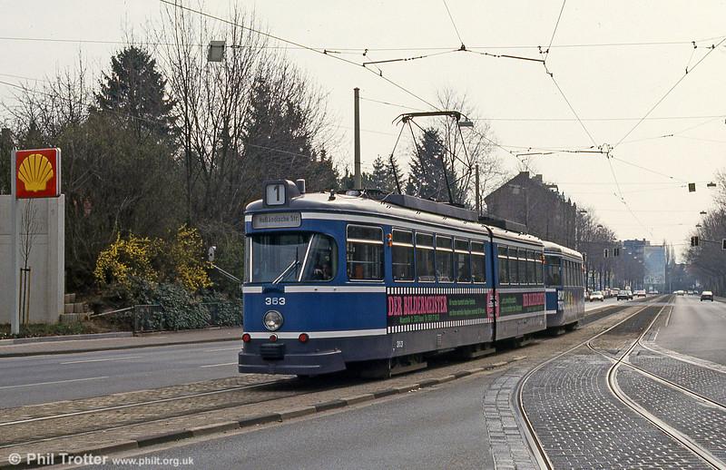 Kassel 4363 at Bahnhof Wilhelmshohe on 10th April 1993.