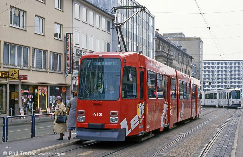Car 413 at Rathaus on 10th April 1993.