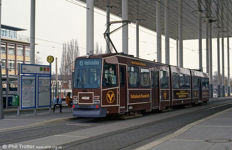 Kassel 422 at Bahnhof Wilhelmshohe on 10th April 1993.