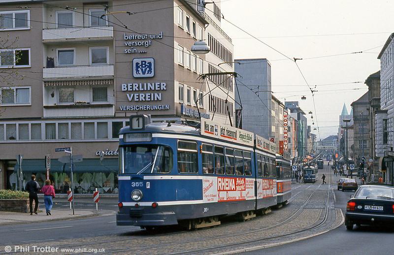 Car 365 at Rathaus on 10th April 1993.