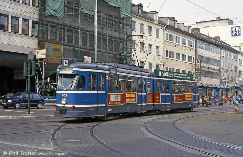 Car 303 at Rathaus on 10th April 1993.