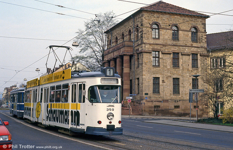 Car 359 at Rathaus on 10th April 1993.