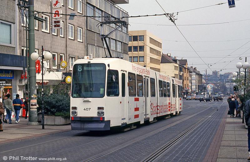 Kassel 407 at Am Stern on 10th April 1993.