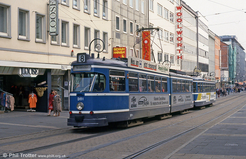 Car 361 at Rathaus on 10th April 1993.