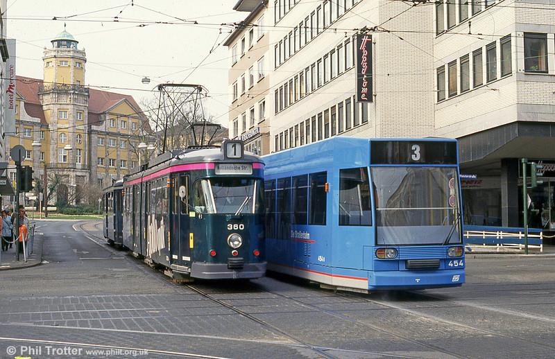 Car 360 at Rathaus on 10th April 1993.