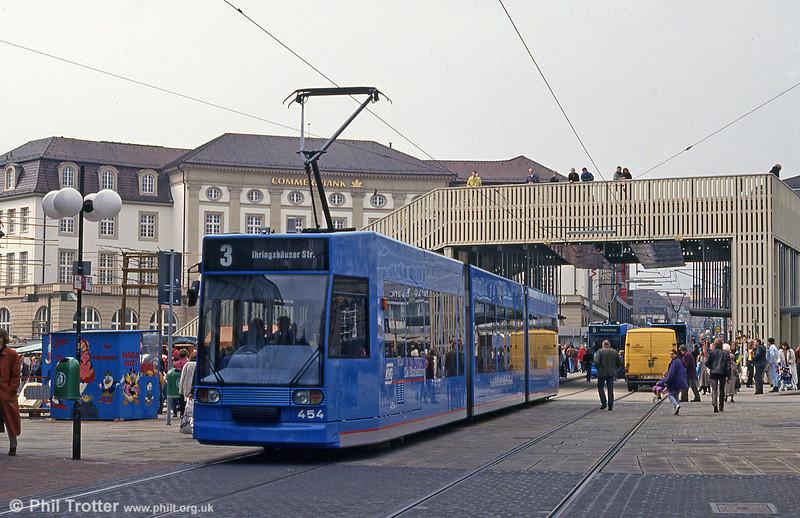 Car 454 at Konigsplatz on 10th April 1993.