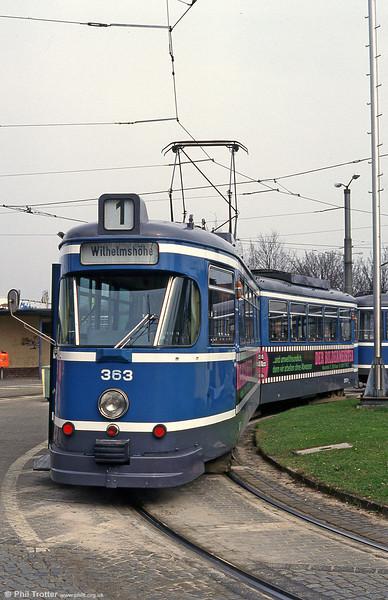 Kassel 363 at Hollandische Strasse on 10th April 1993.