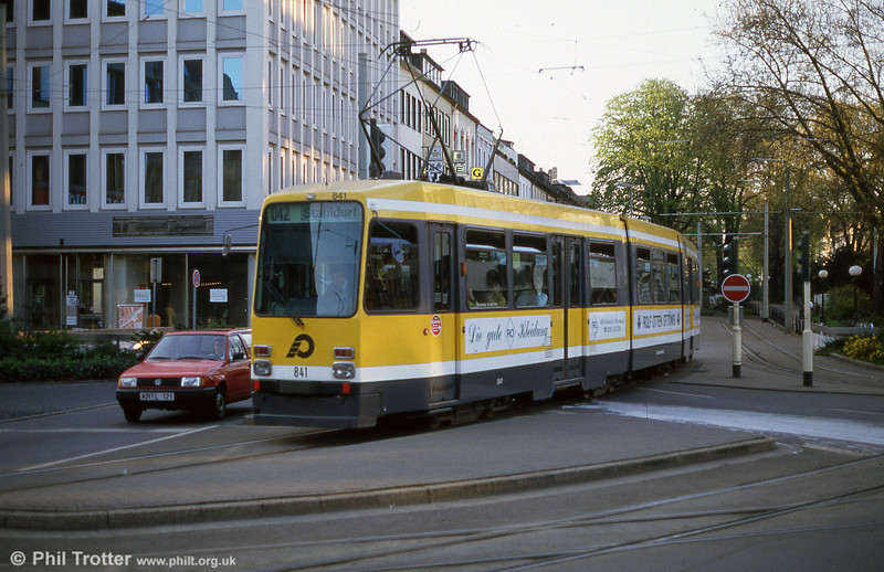 1981-built Krefeld 841, another Duewag M8C.