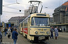 Leipzig Tatra T4D 1884 in front of the Hauptbahnhof on 5th April 1991.