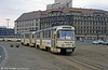 One of Leipzig's later T4Ds, 2048 of 1982 approaching the Hbf. on 5th April 1991.