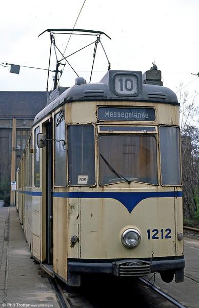 Leipzig Gotha car 1212 of 1967 at Messegelande on 5th April 1991.