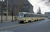 Leipzig Tatra T4D of 1976 at Messegelande on 5th April 1991.