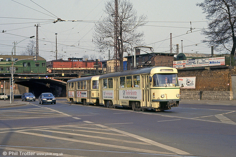 T4D 1048 near the Hauptbahnhof on 12th April, 1993.