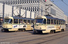 Tatra T4Ds 1184 and 1084 at Alter Markt on 12th April 1993.