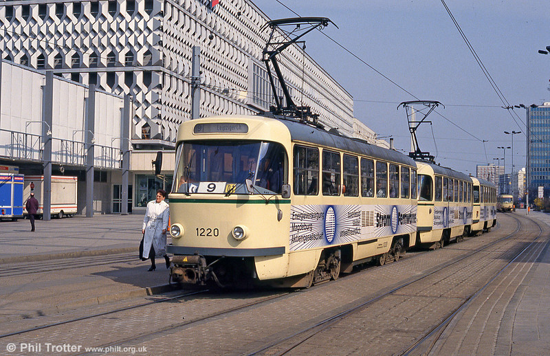 Tatra T4D 1220 at Alter Markt on 12th April 1993.