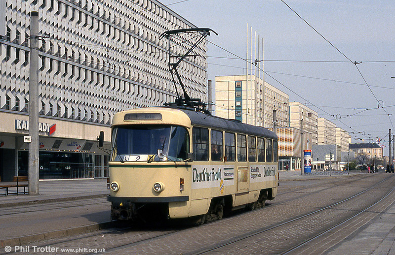 Tatra T4D 1089 at Alter Markt on 12th April 1993.