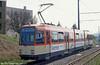 Mainz Duewag car 275 of 1984 at Donsheimer Weg on 2nd April 1991.