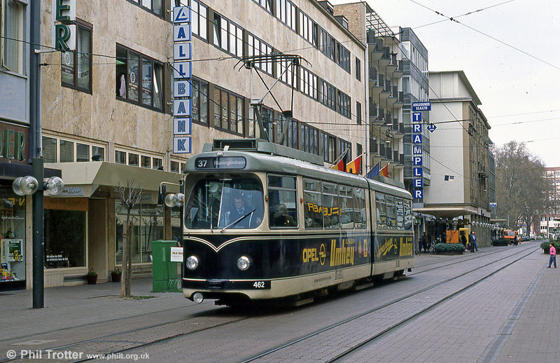 Mannheim 462 in Ludwigshafen on 3rd April 1991.