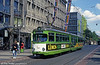 Mannheim 522 of 1964 with a new livery and a recently added low-floor centre section in Paradeplatz on 4th April 1991. (First published in Light Rail & Modern Tramway, 5/94).
