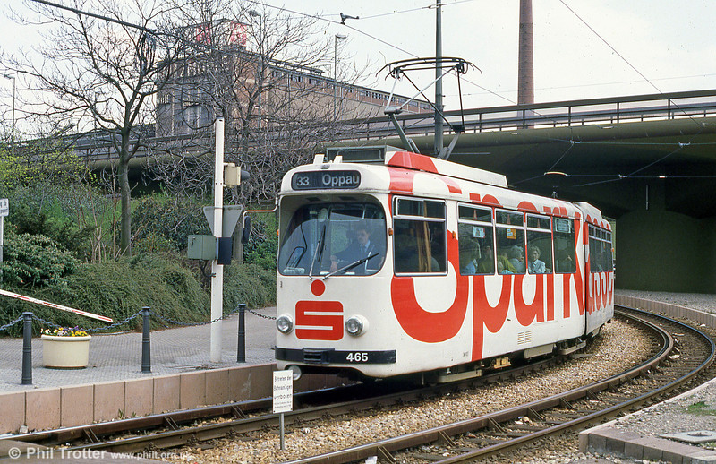 Mannheim 465 in Ludwigshafen on 3rd April 1991.