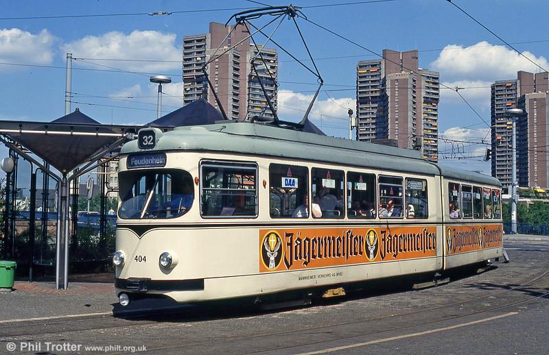 Mannheim 404 at Kurpfalzbrucke on 1st August 1993.