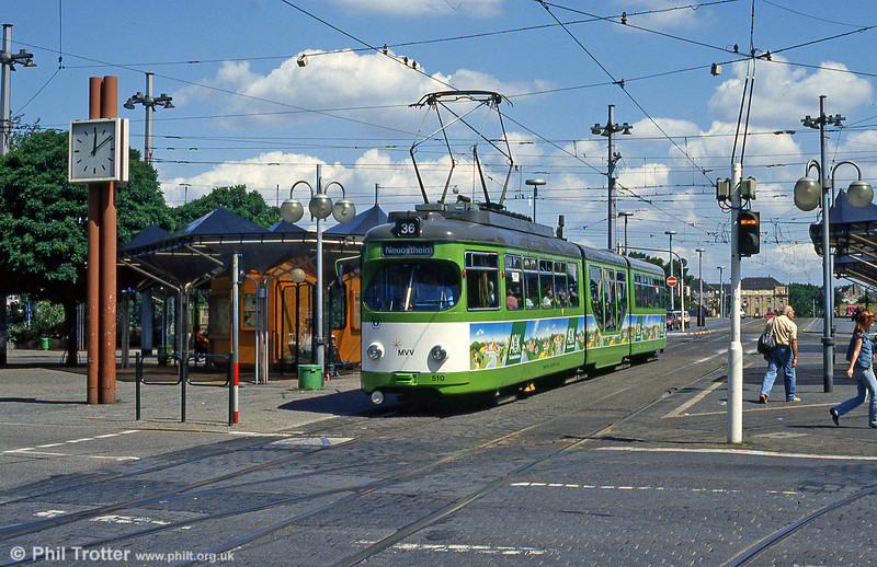Mannheim 510 at Kurpfalzbrucke on 1st August 1993.