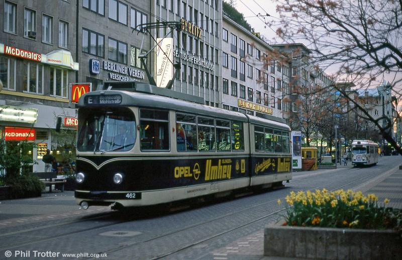 Mannheim 462 at Heidelberger Strasse on 3rd April 1991.