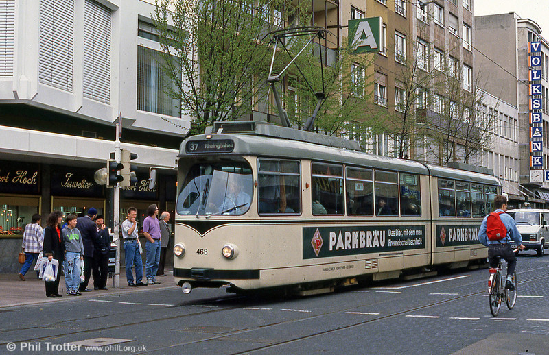 Mannheim 468 in Ludwigshafen on 3rd April 1991.