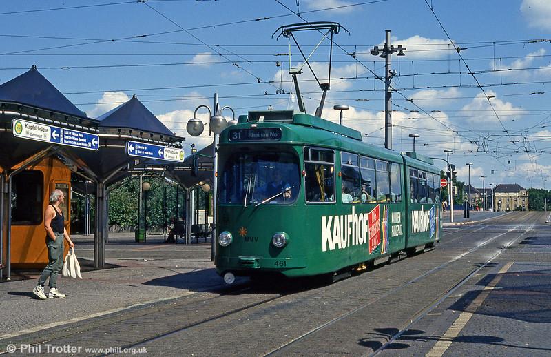 Mannheim 461 at Kurpfalzbrucke on 1st August 1993.